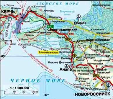 Географическое положение станицы